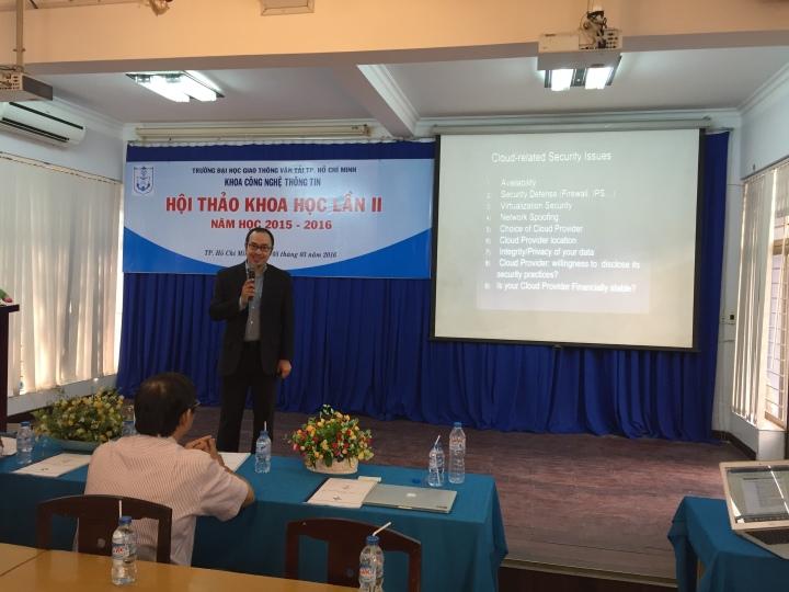 #CSAVietnam trình bày tham luận về Cloud Security tại Hội thảo Khoa học của Khoa CNTT – Trường ĐH Giao Thông VậnTải