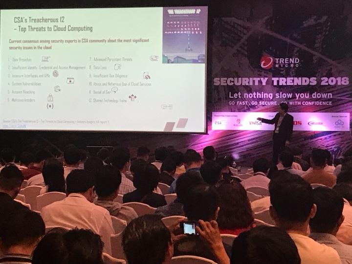 Đại diện #CSAVietnam trình bày tham luận tại Security Trends2018